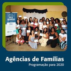 Programação 2020 das Agências de Famílias
