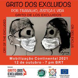 GRITO DE LOS EXCLUÍDOS CONTINENTAL - Acontece en este martes 12/10, a las 7 pm BRT