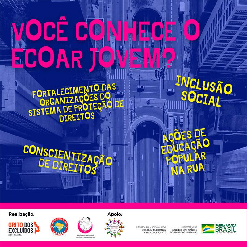 O projeto ECOAR JOVEM – Espaços de Convivência e Integração Social – é um projeto que tem por objetivo colaborar para a transformação das vidas de crianças e adolescentes em situação de rua.