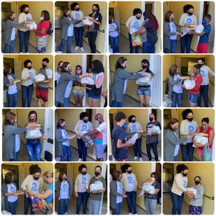 Distribuição de cestas básicas