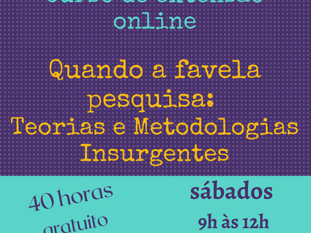 NEPS e PROMOVIDE-UERJ oferecem curso de extensão sobre pesquisas em favela