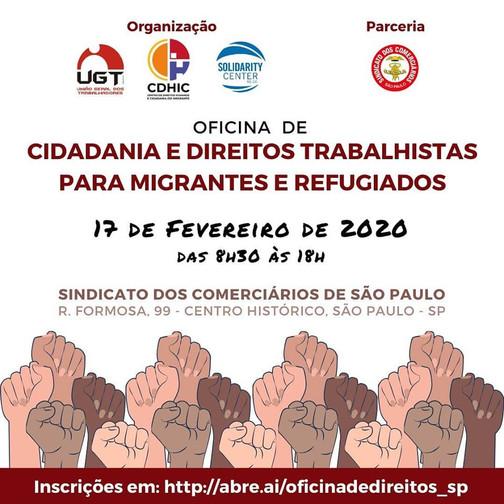 Oficina de Cidadania e Direitos trabalhistas para migrantes e refugiados