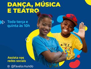 ONG Favela Mundo oferece programação educativa para crianças e jovens pelas redes sociais