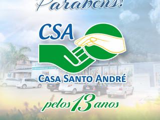 13º aniversário da Casa Santo André