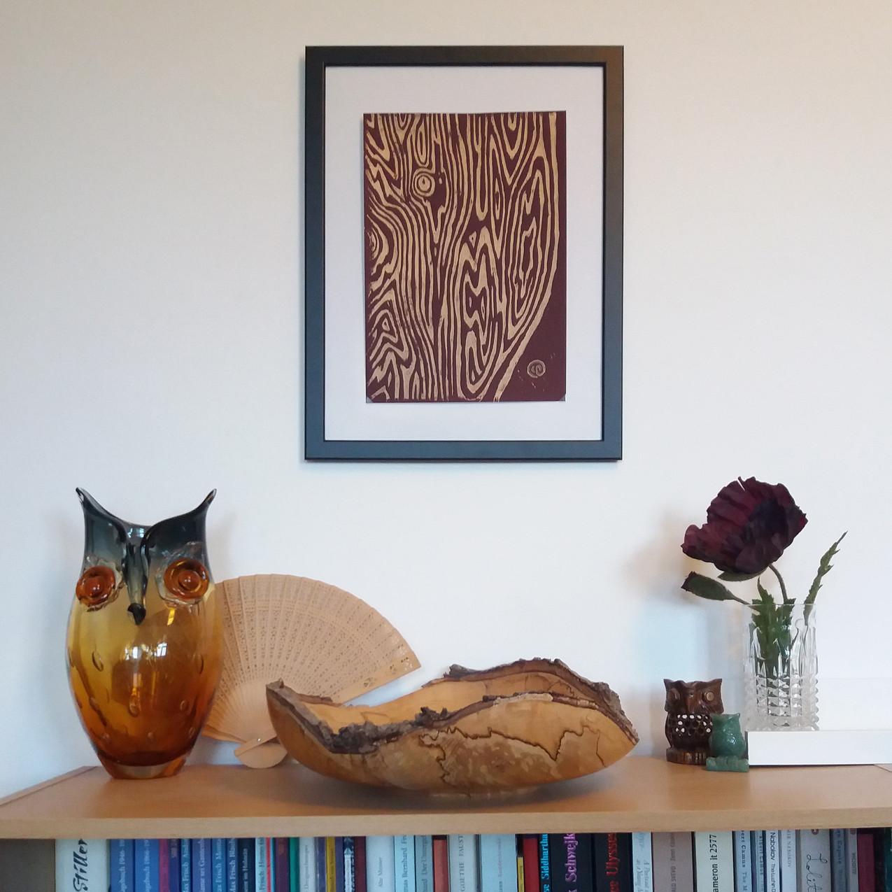 Faux bois - handmade print
