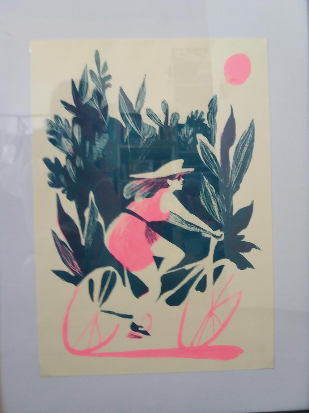 Beatriz Lostale cycling print