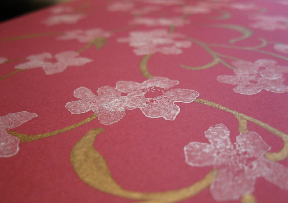 Cherry blossom print detail