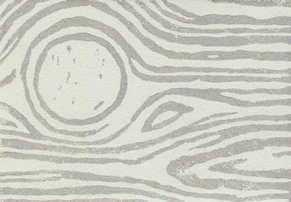 Faux bois print - silver on pale grey