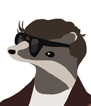 Joe Strummer as a badger