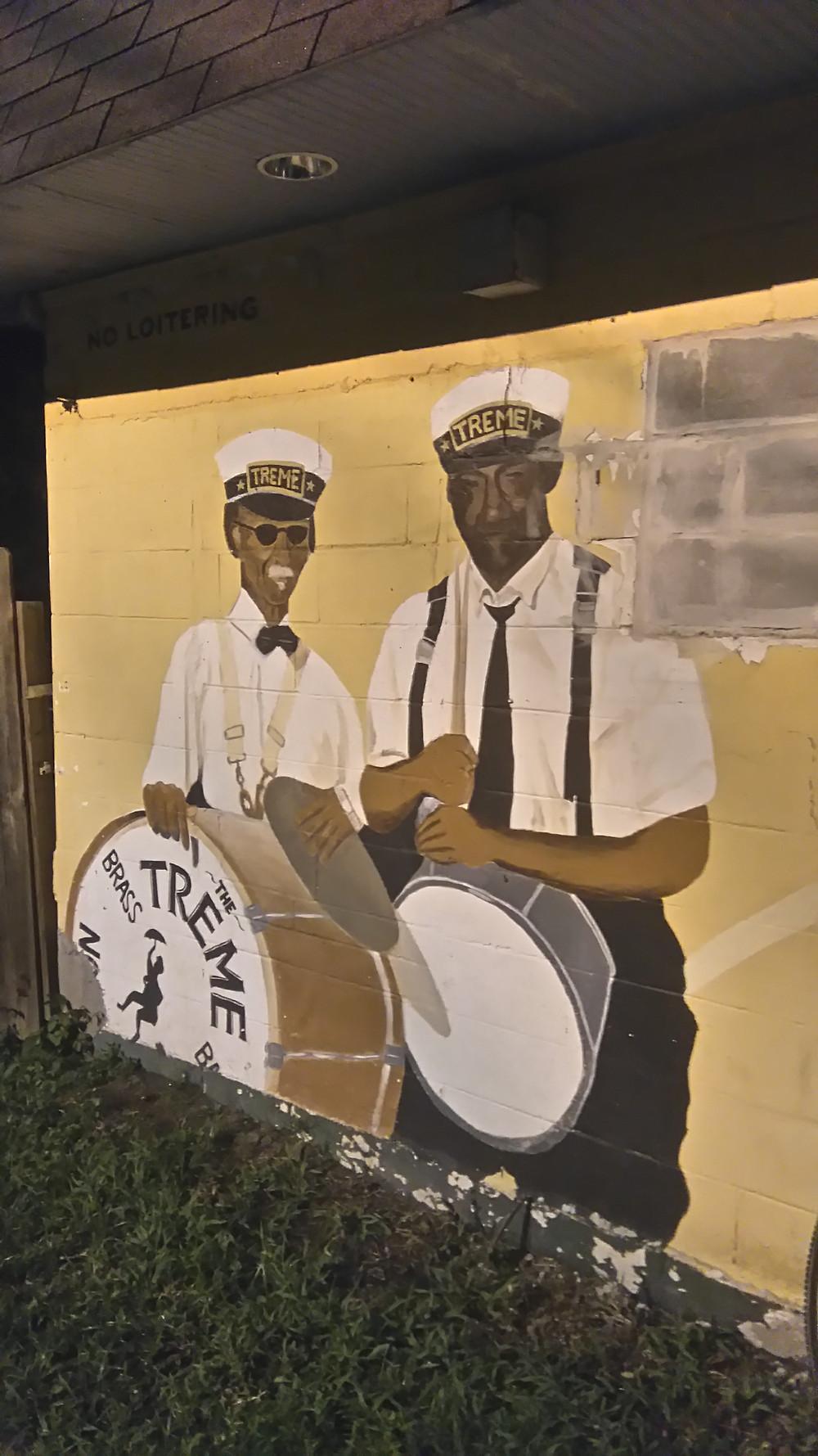 Treme Brass Band mural