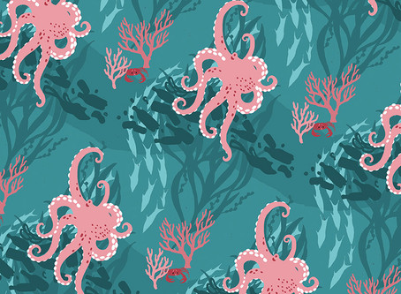 Making of a design - ocean pattern