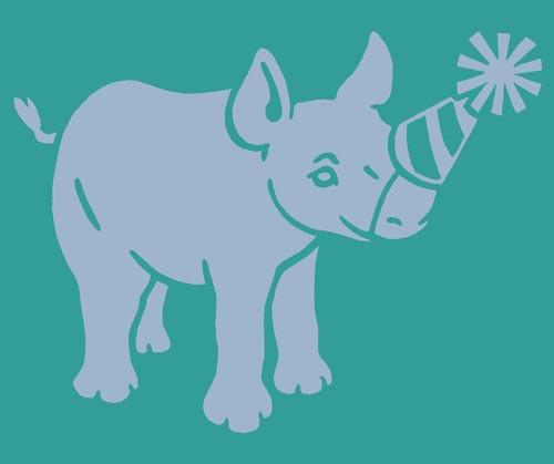 Birthday rhino