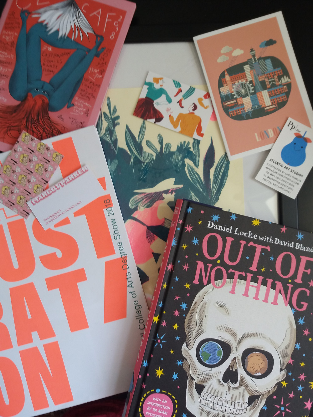 My haul from ELCAF, UAL degree shows, and the Illustrator's Summer Fair