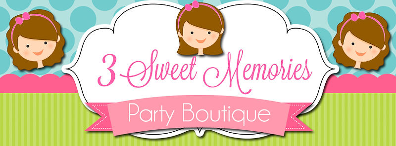 3 sweet memories, pesonalized party supplies