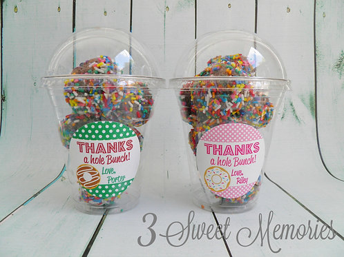 Set of 24- Donut Party Favor Cups