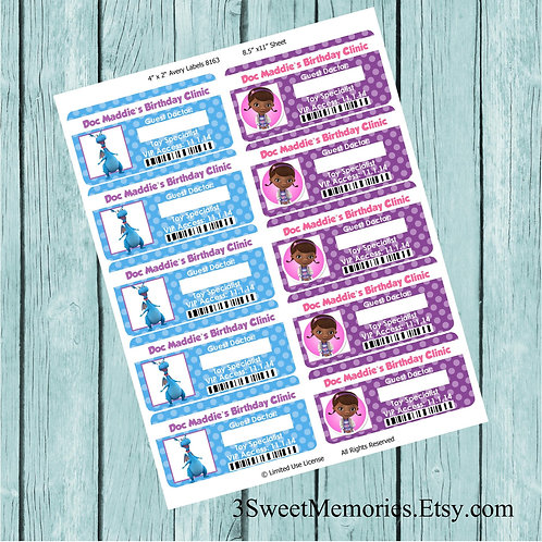 Doc McStuffins Printable Badges