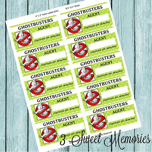 Printable Ghostbuster badges