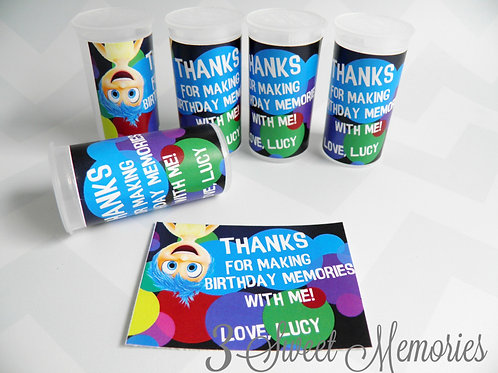 Set of 8,10,12,15, 20 Inside Out Memory Tubes~ Party Favors!