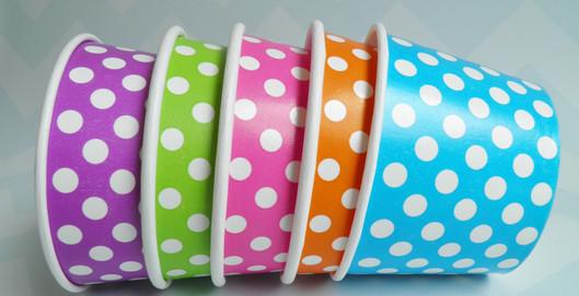 rainbow bowls, cups