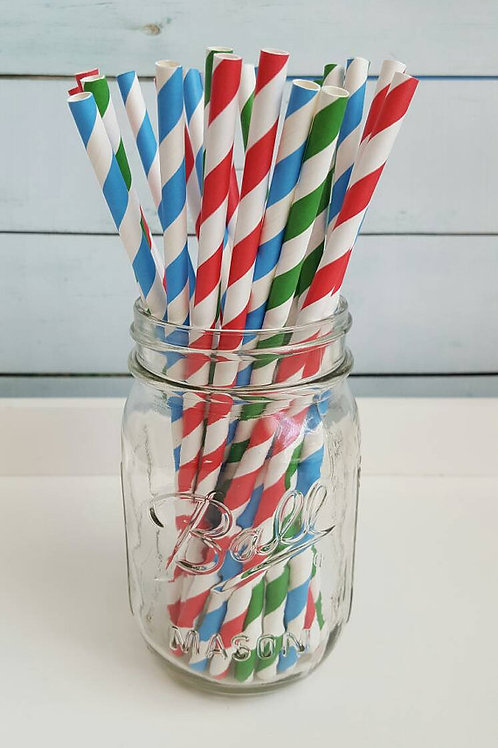 25ct- PJ Masks Paper Straws