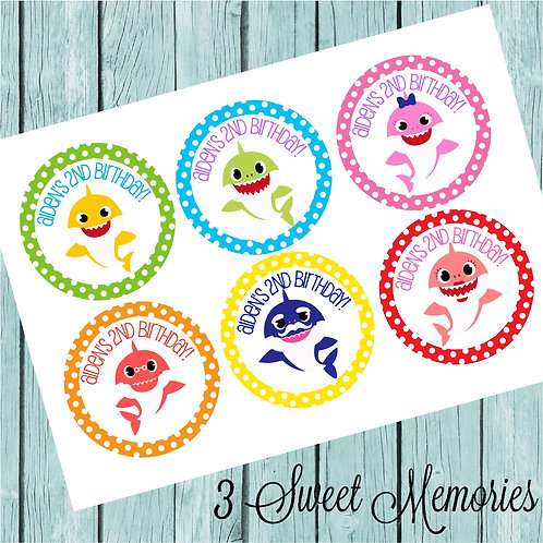 Personalized Baby Shark Stickers