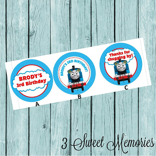 Thomas the Train Sticker or Favor Tags (Set of 12-60)