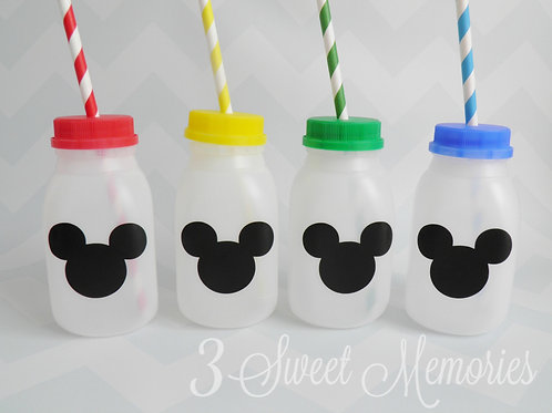 Set of 8 to 16 Mickey Mouse Clubhouse Milk Jugs