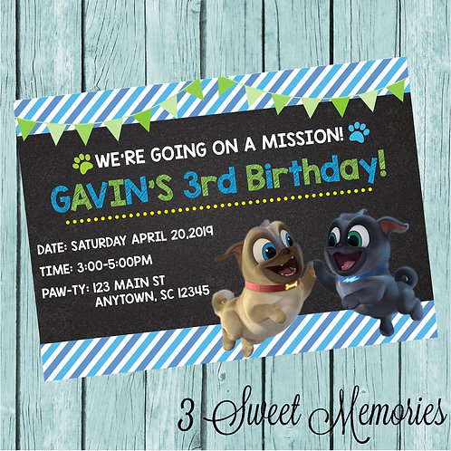 Puppy Dog Pals Printable Invite