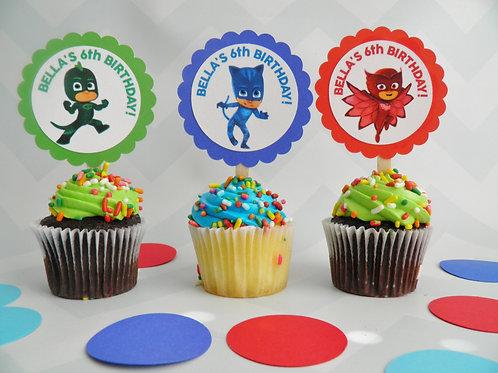 PJ Masks Cupcake Toppers