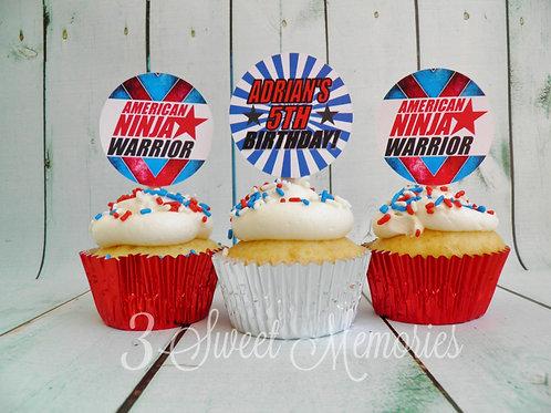 American Ninja Warrior Cupcake Toppers