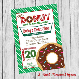 krispy kreme invitation