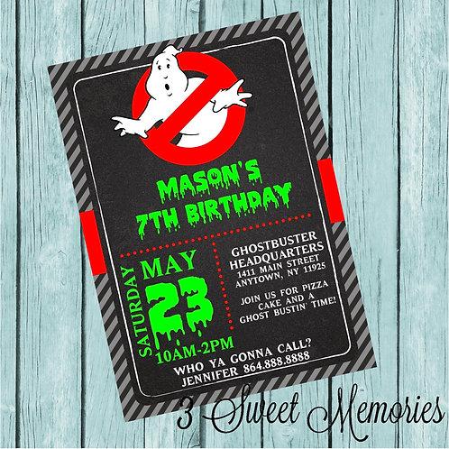 Printable Ghostbuster Invitation