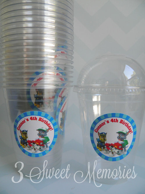 Set of 24-Paw Patrol Popcorn/Treat Cups with Lids