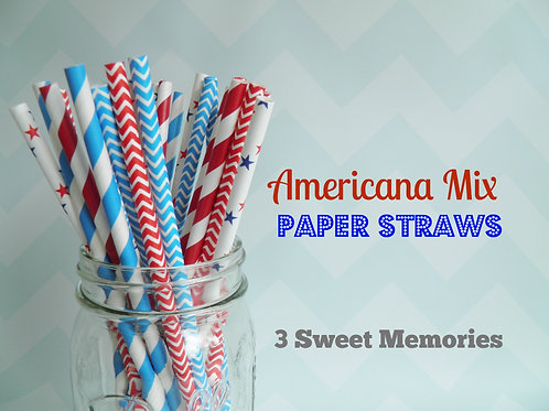 All American Paper Straws- Pack of 25