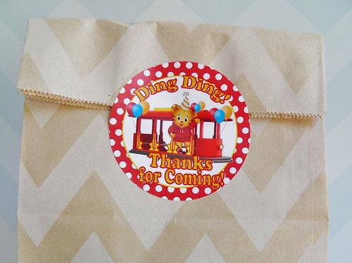 Daniel Tiger Trolley Sticker or Favor Tags (Set of 12-60)
