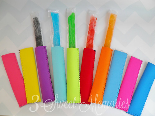 Neoprene Freezer Pop Holders- Popsicle, ice, party favor