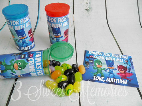 PJ Masks Party Favor Tubes- Set of 20,25 or 30