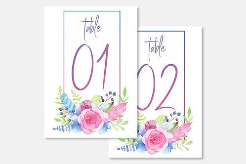 Marque-table florale