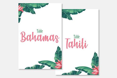 Marque-table Tropical