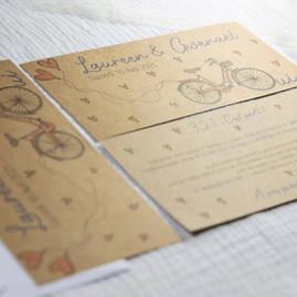 Faire-part mariage kraft champêtre