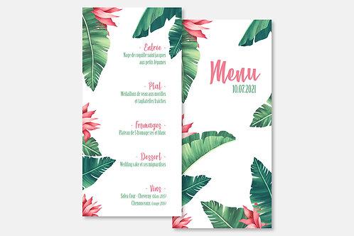 Menu Tropical