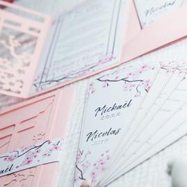 Faire-part mariage Sakura japon