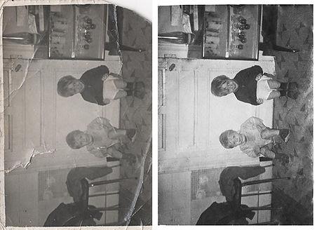 restauration photo graphiste vielle photo estelle fay france réparation souvenirs photographie vintage retro