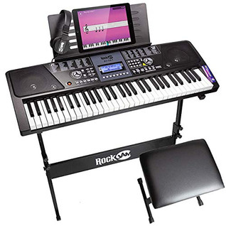 Get Your RockJam On With This 61 Key Electronic Keyboard Piano SuperKit.