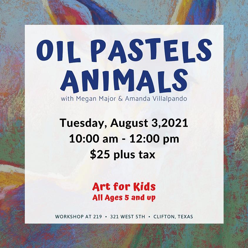 Youth Art - Oil Pastel Animals