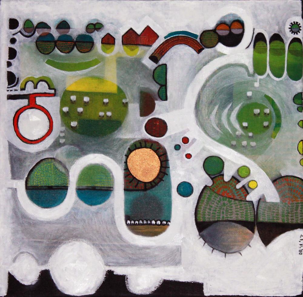 Landscape, 40x40cm, oil on canvas