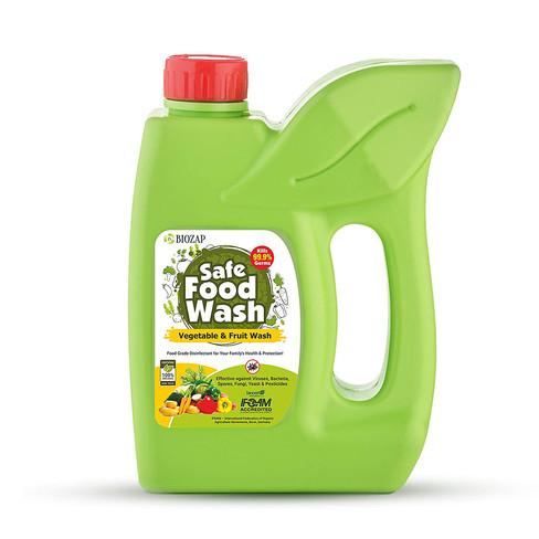 Biozap Safe Food Wash Label