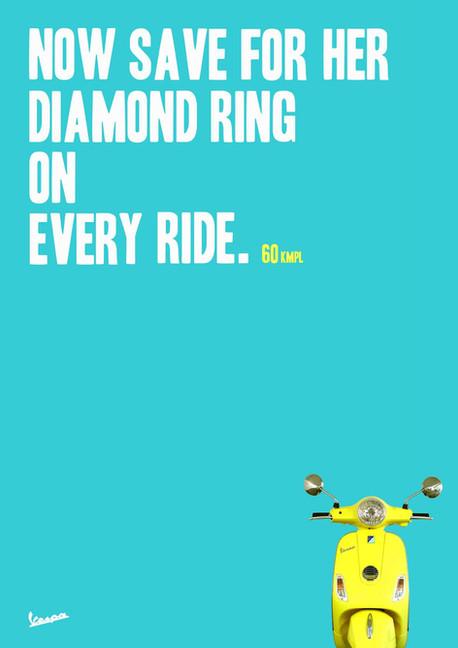Vespa Ad Campaign 60kmpl