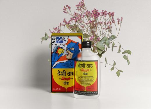 Desi Daaru Packaging concept