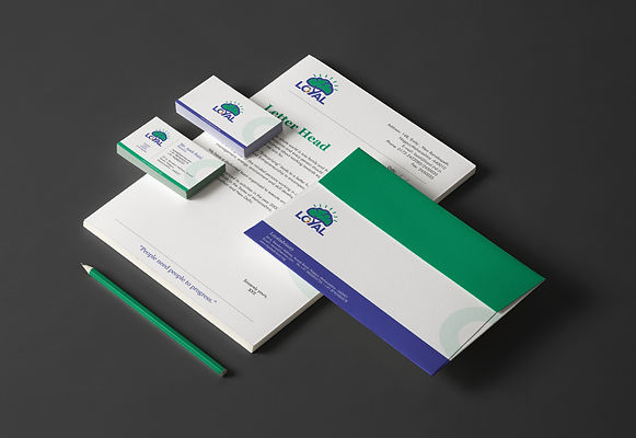 Loyal Advisory Stationary Design by Wesually